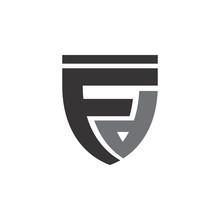 Shield With Fd Letter Logo Des...