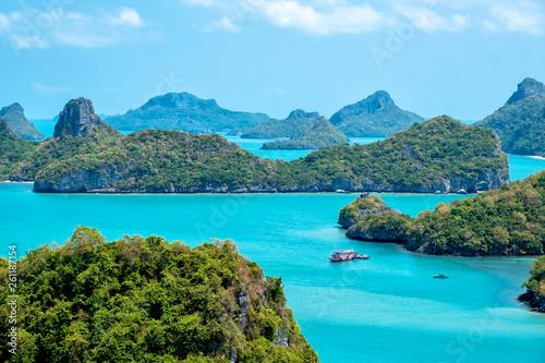Foto auf Leinwand Turkis Landscape image of Mu Koh Angthong, Samui Island, Surat Thani, Thailand