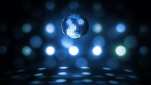 Blue Glowing Spinning Disco Ba...