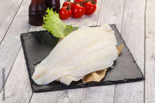 Raw halibut fillet Fototapeta