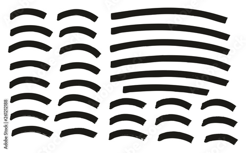 Pinturas sobre lienzo  Tagging Marker Medium Curved Lines High Detail Abstract Vector Background Set 13