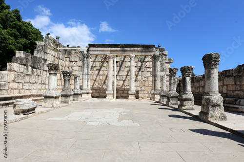 Fotografia  Capernaum is an ancient city located on the coast of Lake Kinneret in Israel