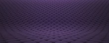 Quilted Fabric Surface. Purple Velvet And Black Leather. Option 2