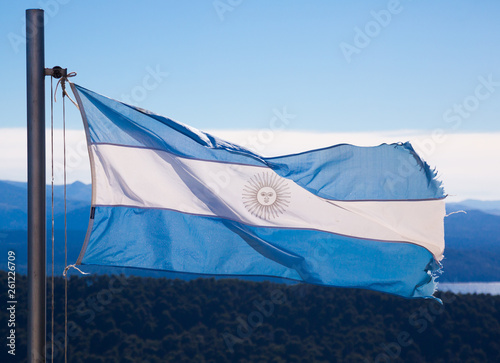 Fotografia  National flag of Argentina