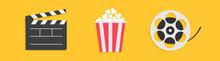 Open Clapper Board. Movie Reel...