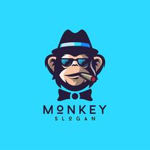 Cool Monkey Logo Design Vector...