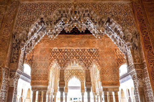 Interiors of Alhambra palace in Granada, Spain Fototapet