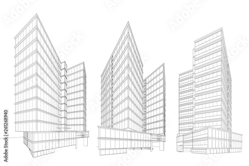 3d wireframe of building sketch design vector buy this stock vector and explore similar vectors at adobe stock adobe stock fotolia