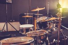 Drum Set Drums In Studio