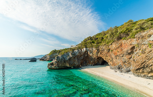 Summer landscape with Mylopotamos beach, Pelion, Greece Wallpaper Mural