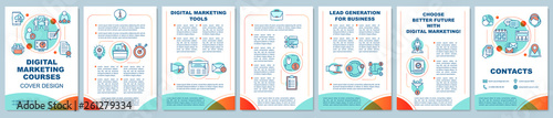 Valokuva  Digital marketing education brochure template layout