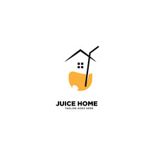Juice Home Logo Template, Vector Illustration Icon Element - Vector