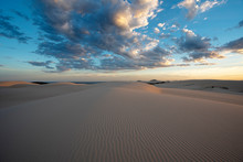 Sunset Over Dark Point Sand Dunes, Myall Lakes National Park, Hawks Nest, NSW, Australia