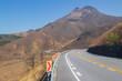 由布岳と道 Mt. Yufudake and road 大分県湯布院 Yufuin