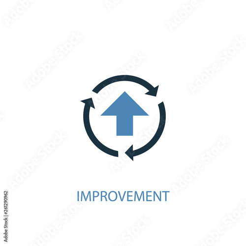 Obraz improvement concept 2 colored icon. Simple blue element illustration. improvement concept symbol design. Can be used for web and mobile UI/UX - fototapety do salonu