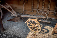 Vintage Wooden Carriage Wheels