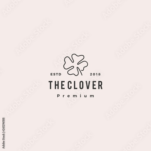 Foto clover logo doodle vector icon illustration