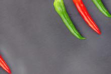 Pod Pepper Green Red Corner Design Three Chili Slanted Web Based Menu Design On A Dark Background