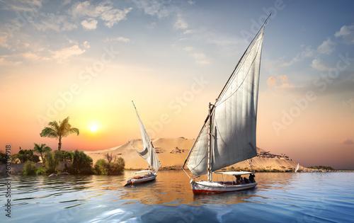 Foto  Sunset in Aswan