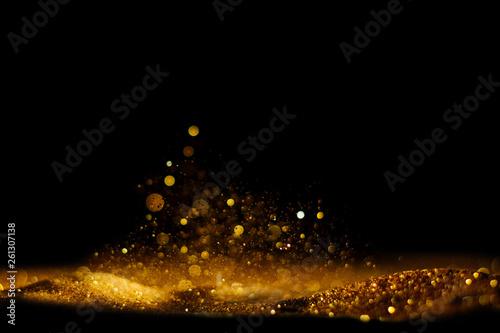 Carta da parati  glitter vintage lights background. defocused