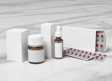 Pharmaceutical Packaging Mockup - 3d Rendering