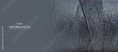 Carta da parati  Black thread macro background clothing sewing material pattern
