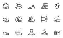 Spa Salon Vector Line Icons Se...