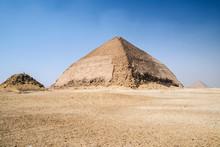 Red Pyramid And Bent Pyramid At Dahshur Necropolis Near Cairo, Egypt