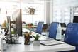 Leinwandbild Motiv Interior of cozy empty modern coworking office