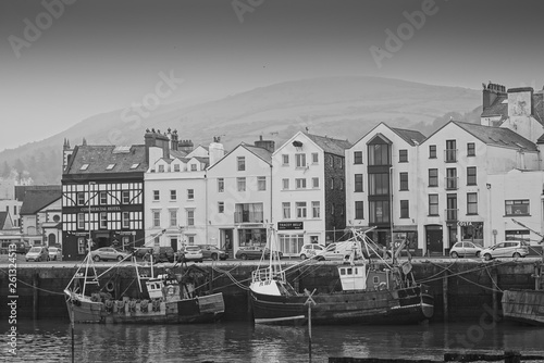 Canvas Print Ramsey Isle of Man Black and White