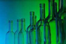 Glass Wine Bottle Necks On Gre...