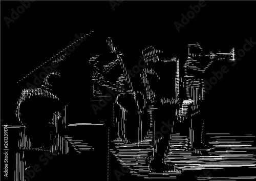 Obraz na płótnie Jazz band