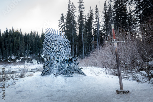 Photo  GOT throne Event in Tumbler Ridge Canada 2019