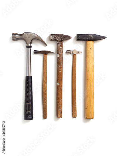 Several different hammers Canvas Print