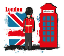 Grunge Banner With London