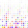 Multicolored circles on a white background