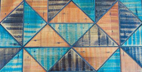 Kolorowa struktura ciągłego trójkąta. Kolorowy trójkąt ciągły. zbliżenie