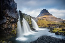 Mountain Landscape With Rapids, Iceland
