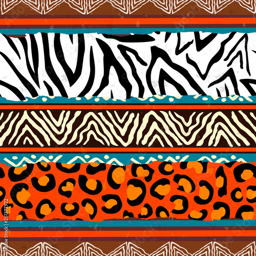 Photo  African animal print pattern background