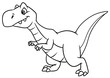 canvas print picture - dinosaur predator animal character cartoon illustration isolated image coloring page