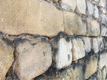 Angle View Of An Old Brick Wall Background