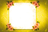 mockup, with hand-painted flowers, with beautiful flowers. Blank space or background for text space. Space for vector lustration. Template for a poster, cards, banner.
