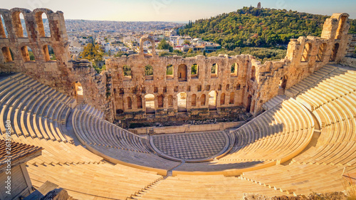 Theatre of Dionysus, Athens, Greece Canvas Print