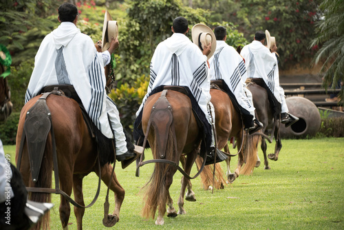 Photo  Demonstration of the Peruvian Paso horse mounted by his chalan