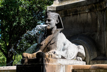 A Parisian Fountain With An Eg...