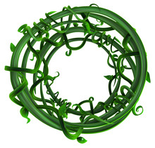 Plant Vines Green, Ring Loop Form