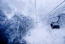 Cable Car Sky On Snow Mountain At Gala Yuzawa , Japan
