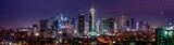 Fototapeta Landscape - Wide panorama of Bonifacio Global city skyline at Magic hour