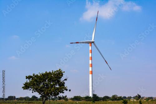 Photo Wind Turbine Power Concept