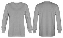 Blank Heather Grey T Shirt Lon...